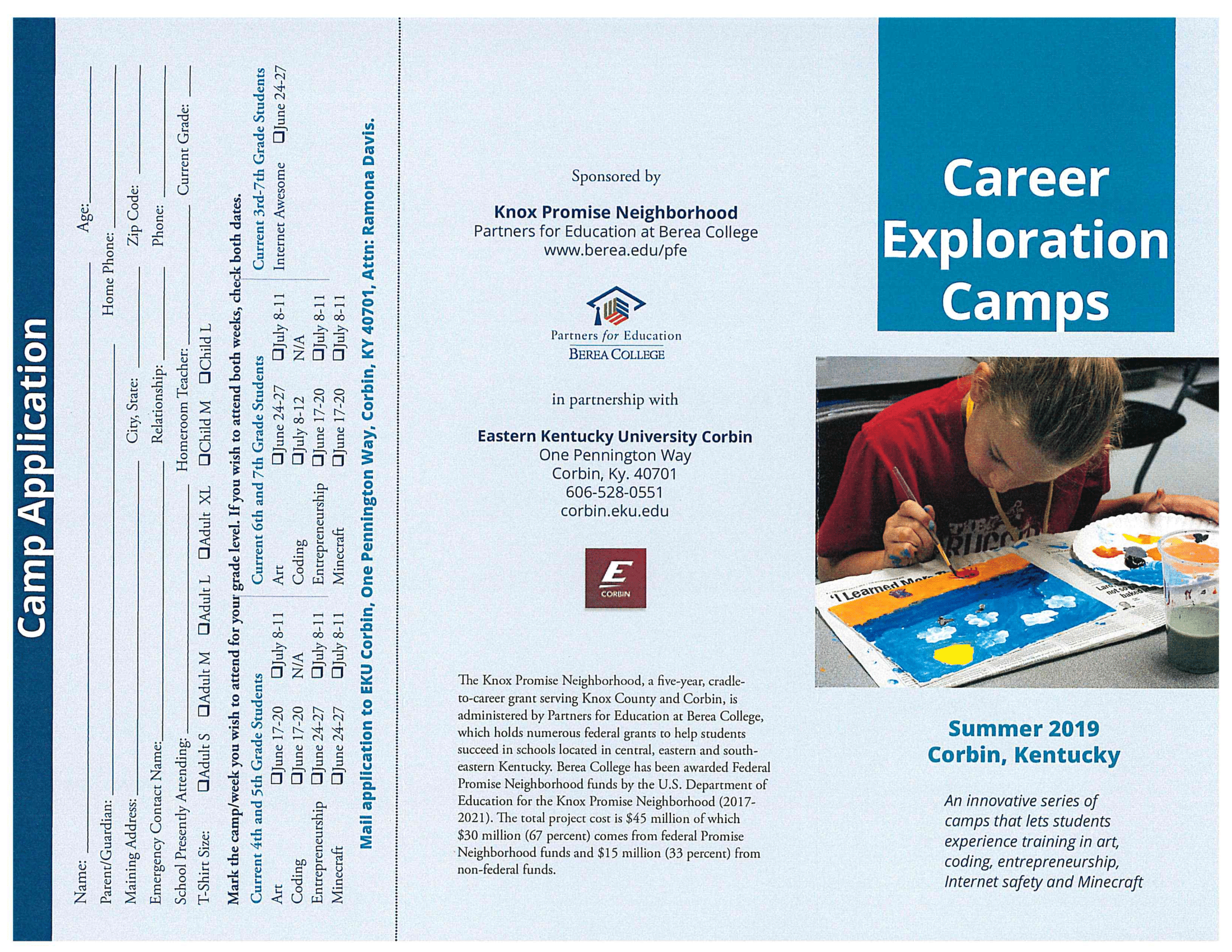 Click Here To Print An Application For EKU's Free Career Exploration