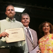 Mr. Stephen Kappeler, Graduate Jeffrey Blanton, and Mrs. Carla Lawson