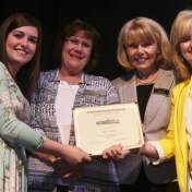 Graduate Olivia Nantz, Mrs. Judy Smith, Mrs. Sharon Ball, and Dr. Connie Hodge