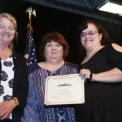 Dr. Litzelfelner, Mrs. Juanita Westerfield, and Graduate Allison Bennett