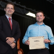 Dr. Ryan Wilson and Graduate Justin Towe