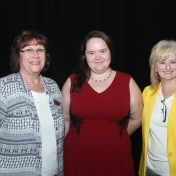 Mrs. Judy Smith, Graduate Lindsay Wright, and Dr. Connie Hodge