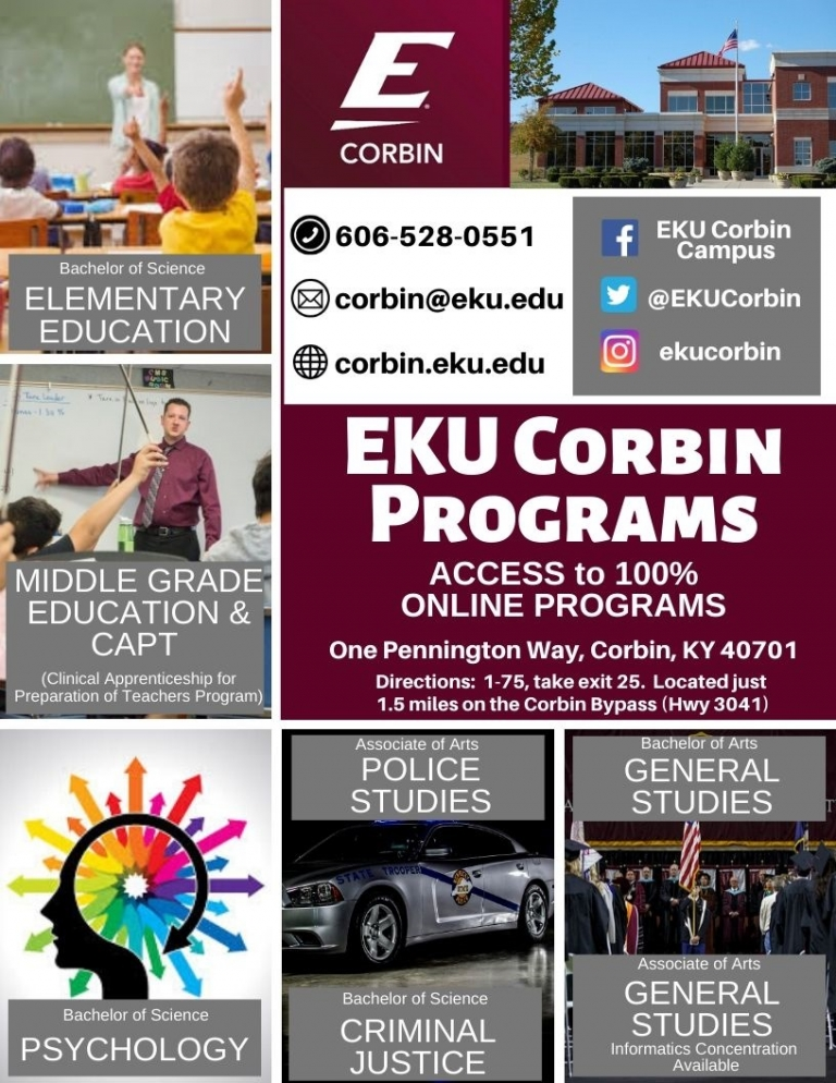 Earn your degree at EKU Corbin!