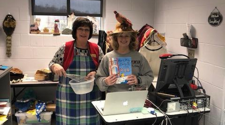 Mrs. Judy Smith and Dr. Connie Hodge Zooming into a classroom!