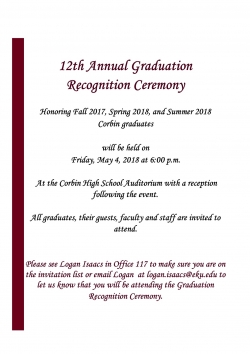 12th Annual Graduation Recognition Ceremony